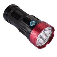 Skywolfeye 10 T6 Bulbs Lantern 18650 Flashlight LED Black Torch Light 10000 lumens Waterproof Hand Lamp For Camping