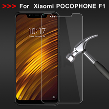 9H Clear Screen Glass for Xiaomi Pocophone F1 Tempered on For Poco HD Hardness Front Film