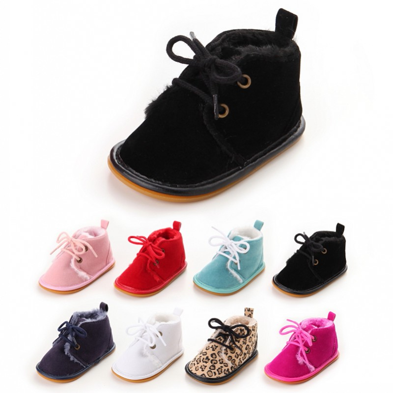 New Winter Baby Short Boots Fashion Street Toddler Baby Shoes Unisex Thicker Non-Slip Rubber Sole Infant Newborn Shoes 122
