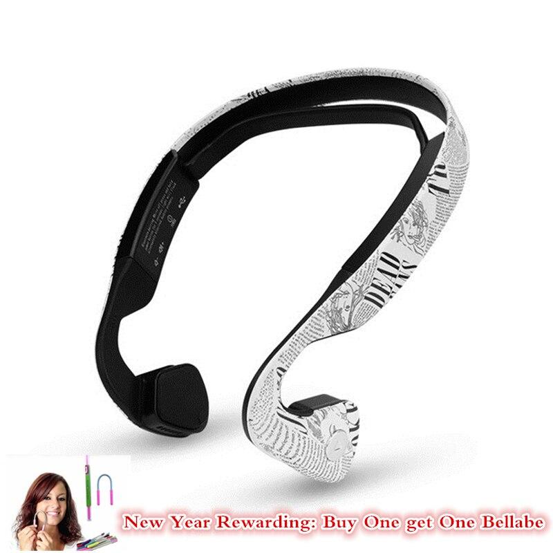 Nouvelles écouteurs stéréo sans fil Bluetooth à Conduction osseuse avec micro Sport casque de conduite pour téléphone