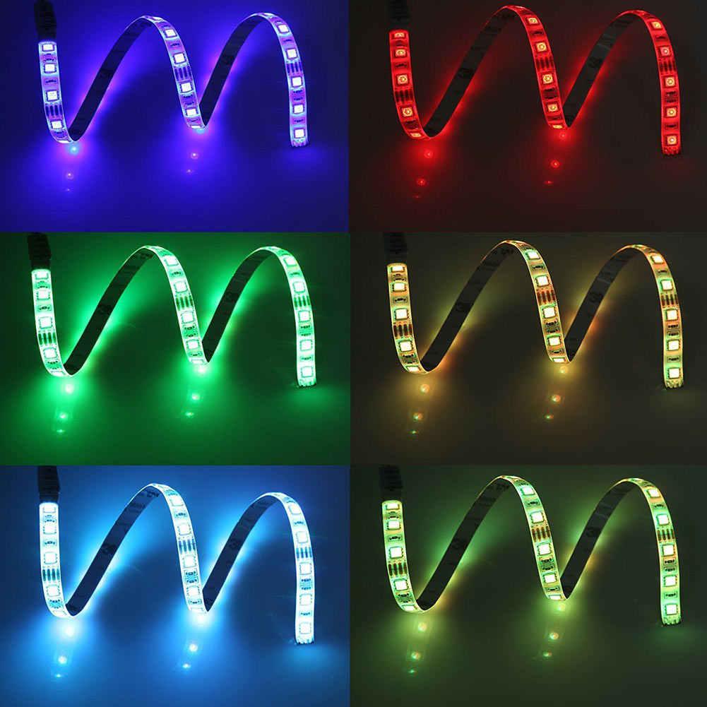 5050 USB Mood Light RGB Multi Warna LED Lampu Strip TV Backlight 24 Tombol Remote Control Anak-Sale