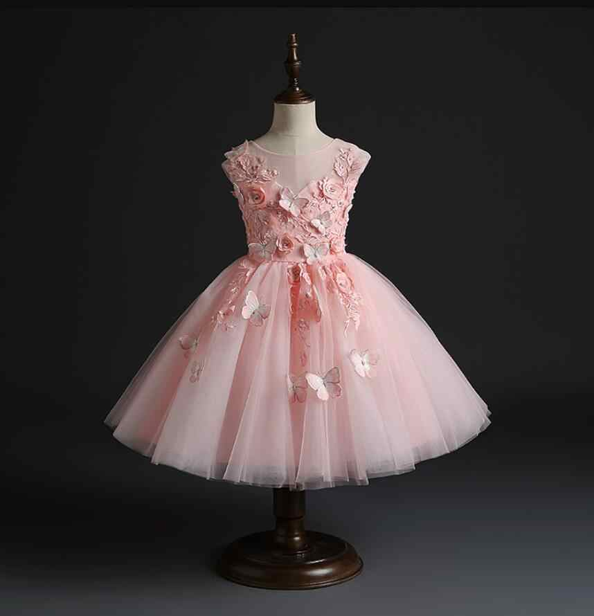 Princess Baby Girls Dress Wedding Bridesmaid Party Dresses Christmas Formal Gown
