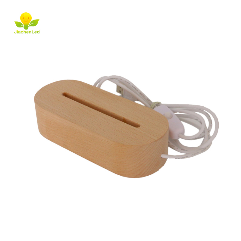 Ambicioso Venta Caliente De Madera De Haya Led Base 3d Led Color Blanco Caliente Base De Madera Con Dimmer On Off Interruptor Usb