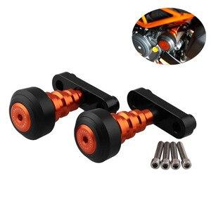Image 1 - 1 paar Motorrad fahrrad Änderung Teile Körper Shatter beständig Stange CNC Slider Kollision Protector Herbst Schutz Orange