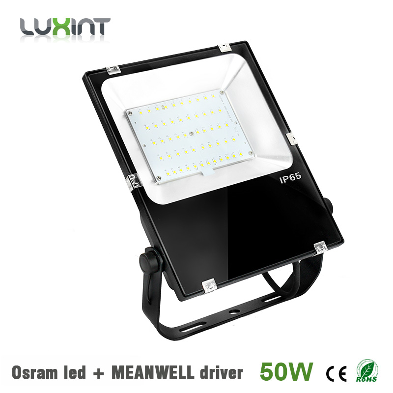 ФОТО 50w led flood light outdoor Osram led chip ultrathin 5years warranty IP65 waterproof spot lighting with Mean well driver