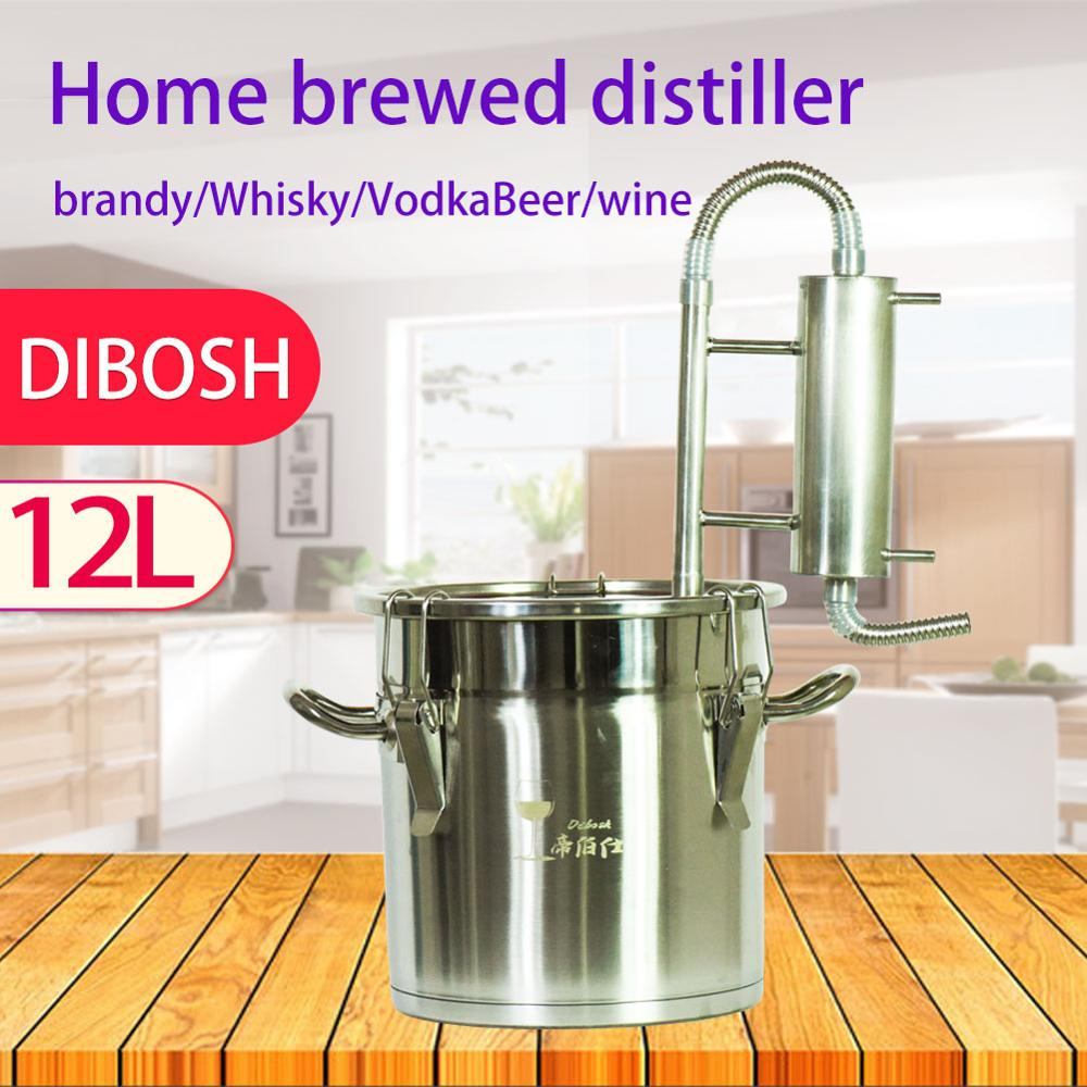 New 12L Small MINI Family Self-made Brewing Equipment Distiller Vodka Brandy Whiskey Beer Brewing Wine Tools Alcohol Mashine