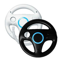 6 Color Steering Wheel for Kart Racing Games Remote Controller For Nintendo Wii Controle