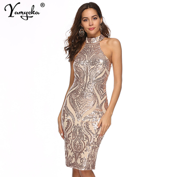 Sexy plus size Sequins Summer Dress women fashion Off Shoulder bodycon Party dress elegant Night club Dresses Midi vestidos New new slender and large size printed dresses for women in summer of 2019 fashion new type a medium length dress sexy top