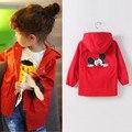 2016 New Spring Baby Girl Coat Print Cartoon Graffiti Hooded Zipper Girl Jacket Full Sleeve Toddler Girl Outerwear Windbreaker