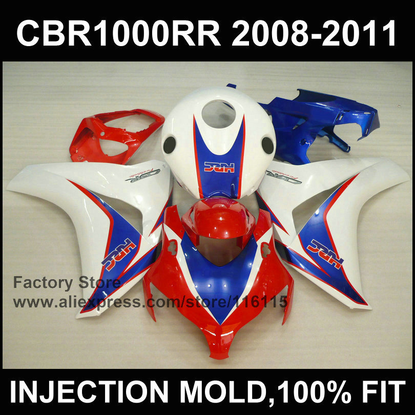 Fairing parts for HONDA CBR1000RR red white HRC fairing  2008 2009 2010 2011 cbr1000 rr Injection molding bodyworks arashi motorcycle radiator grille protective cover grill guard protector for 2008 2009 2010 2011 honda cbr1000rr cbr 1000 rr