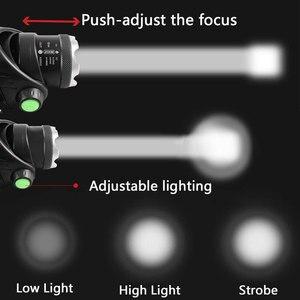 Image 5 - LED ヘッドライト XML V6/L2/T6 ズーム Led ヘッドランプトーチ懐中電灯ヘッドランプ使用 2*18650 バッテリーキャンプ自転車ライト得る