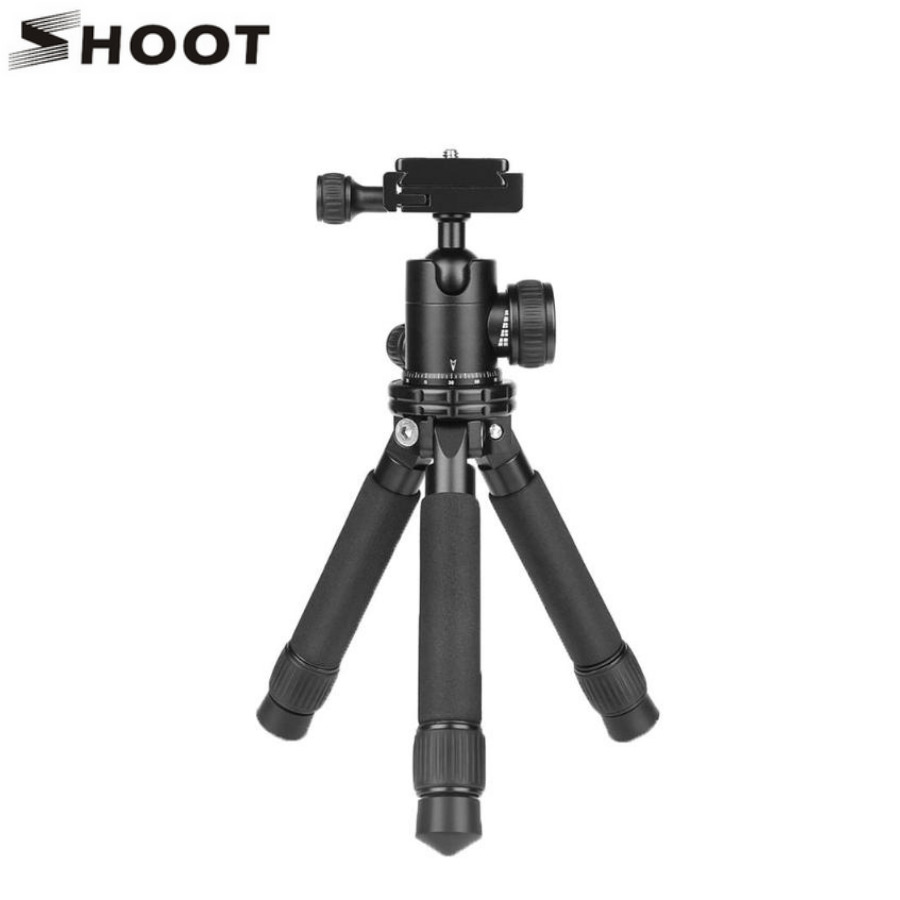 Aluminium Camera Tripod Stand Mini Tripod Stand Holder Mount Monopod Bracket with Ball Head for DSLR Camera Camcorder