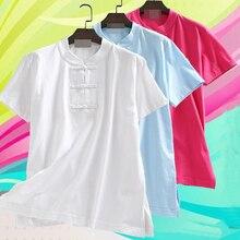 Унисекс, летние хлопковые рубашки с коротким рукавом для боевых искусств кунг-фу, костюмы для медитации, ушу, Тай Чи, крыло Чун, Униформа, серый, синий