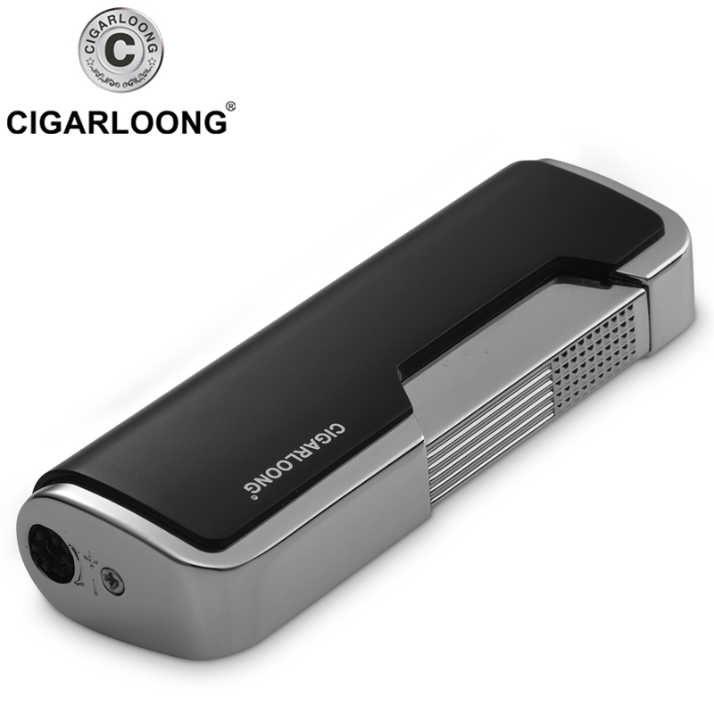Купить с кэшбэком Cigar Ashtray 3 Piece Sets Portable Windproof Lighter with Cigar Cutter and Ashtray gift boxed CT-6001
