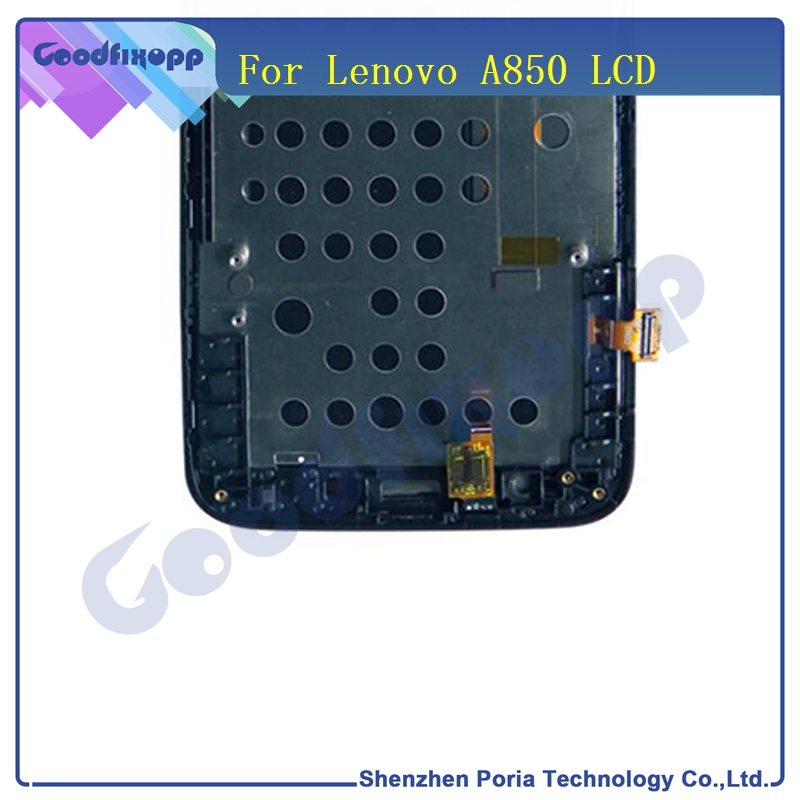 For <font><b>Lenovo</b></font> <font><b>A850</b></font> <font><b>LCD</b></font> Display Touch Screen Panel Digitizer Assembly With Frame For <font><b>Lenovo</b></font> <font><b>A850</b></font> Replacement Parts Screen image
