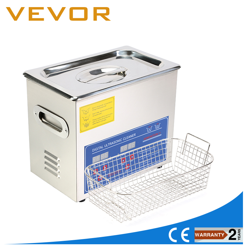 US&EU Stock Commercial Ultrasonic Cleaner 3L Heated Ultrasonic Cleaner With Digital Timer Jewelry Watch Glasses Cleaner