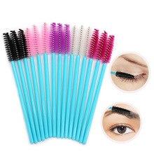 50pcs/set Disposable Eyelash Brush Mascara Wands Applicator Eyelash Comb Makeup Brushes Suitable  For Beauty tools