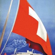 Carteles de viaje de Suiza, Ginebra, pegatinas de pared clásicas del lago de Ginebra, lienzo, póster vintage de pintura, decoración de Bar para el hogar, regalo