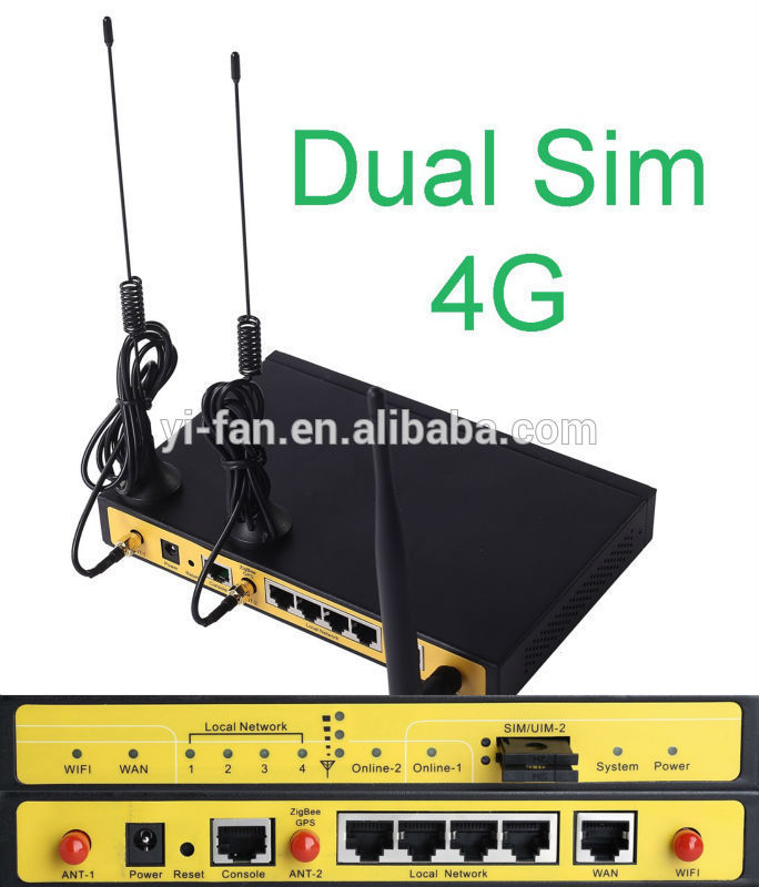 F3946 dual sim active/active 4G LTE router for ATM Kiosk Substation