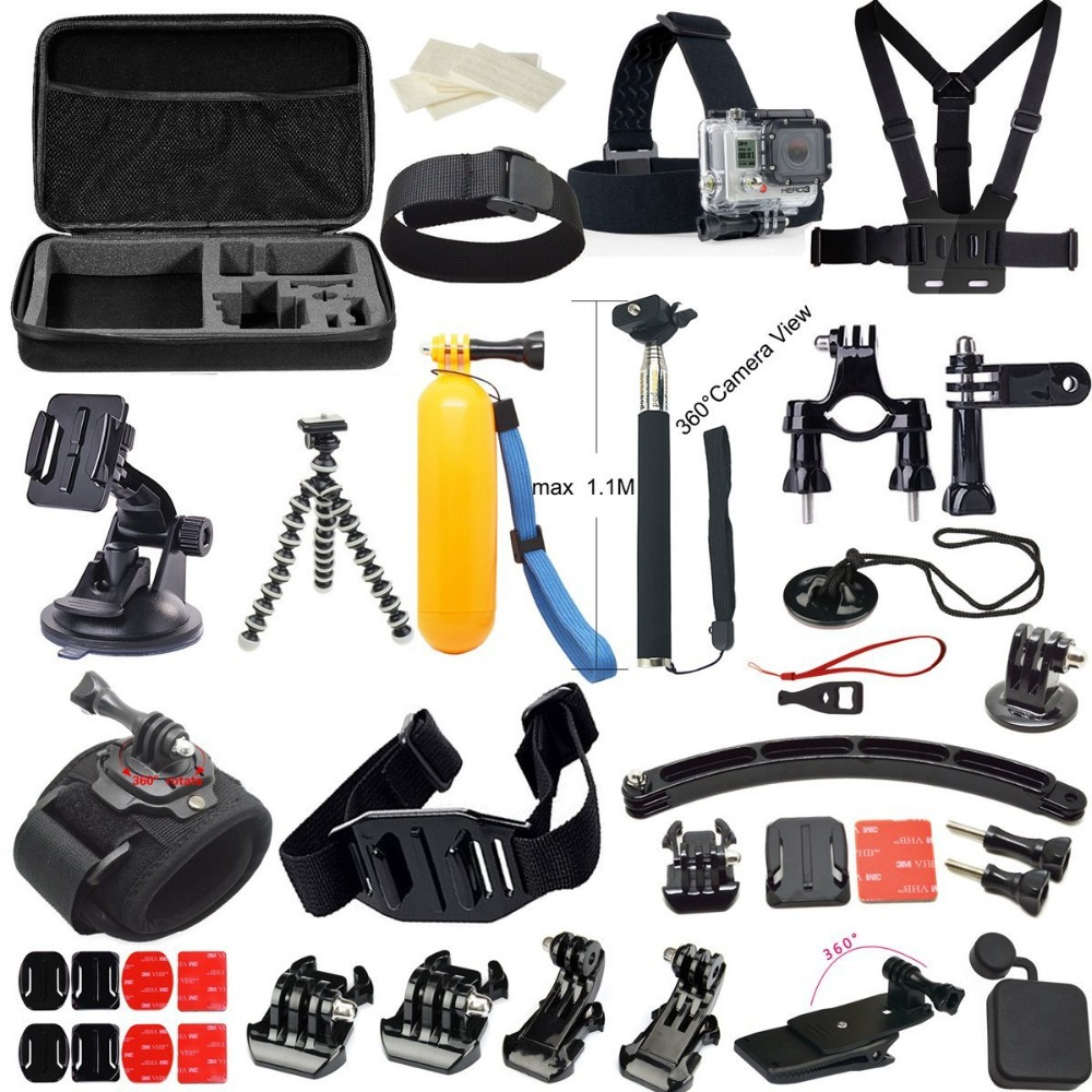 Husiway For Go pro / gopro accessories Set case tripod 360 ...  Gopro