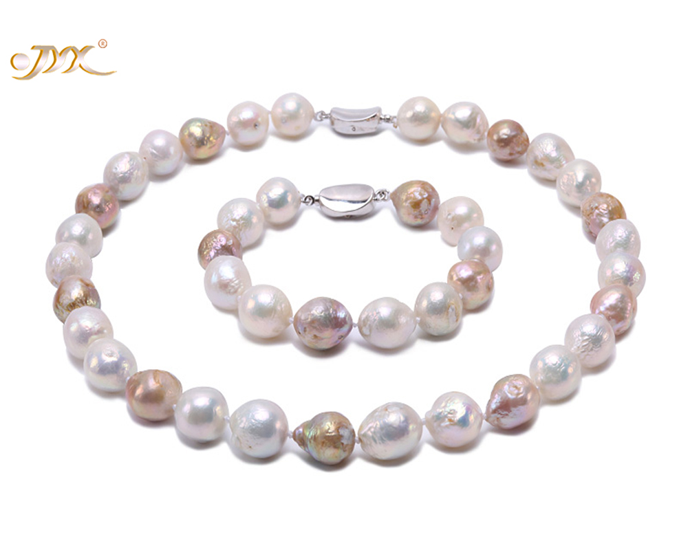 JYX Jewelry Sets Necklace Set Multicolor Freshwater Cultured Baroque Pearl Necklace and Bracelet Party jewelry Gift