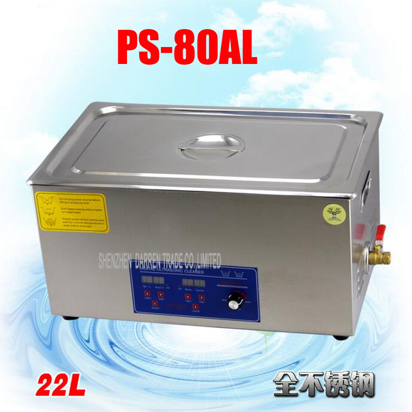 1PC 110V/220V The large PCB/ industrial control board  Ultrasonic Cleaner  22L Stainless Steel Cleaning Machine vectra industrial control board rocky 3705ev