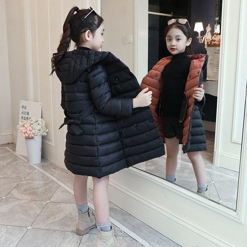 a9a16978d 2019 grueso invierno otoño ropa de niñas chaqueta Denim larga para niñas  abrigo de ropa para niños con capucha ropa de los niños de 12 años
