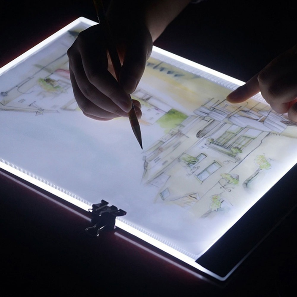 Dropshipping <font><b>A5</b></font> <font><b>LED</b></font> Drawing Tablet Thin Art Stencil Drawing Board <font><b>Light</b></font> Box Tracing Table <font><b>Pad</b></font> Three-level Graphics Tablet image