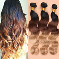3Pc Ombre Brazilian Hair Body Wave Ombre Brazilian Hair Weave Bundles 1B/4/27 King Rosa Queen Hair Products 7A Ombre Virgin Hair