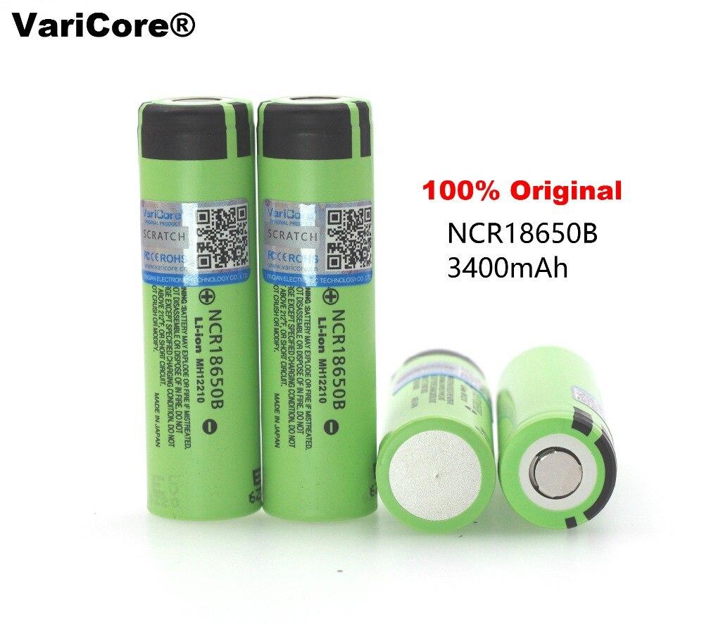 Galleria fotografica 4 unids 100% new original ncr18650b 3.7 v 3400 mah 18650 rechargeable au lithium batterie pour <font><b>panasonic</b></font> lampe de poche piles