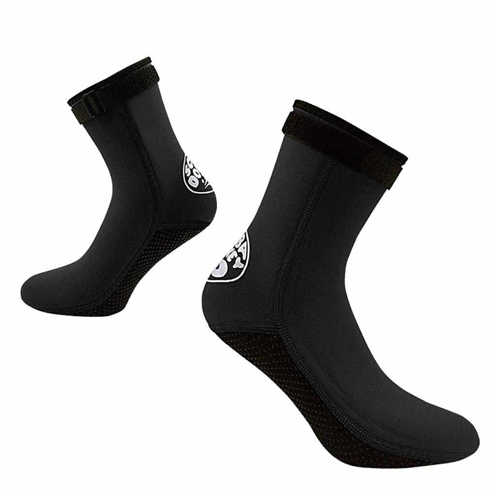 ถุงเท้า NEOPRENE 3 MM ดำน้ำว่ายน้ำถุงเท้าชายหาด Anti-SLIP ดำน้ำดูปะการังรองเท้า Surfing WARM ถุงเท้าผู้หญิงรองเท้ากลางแจ้ง