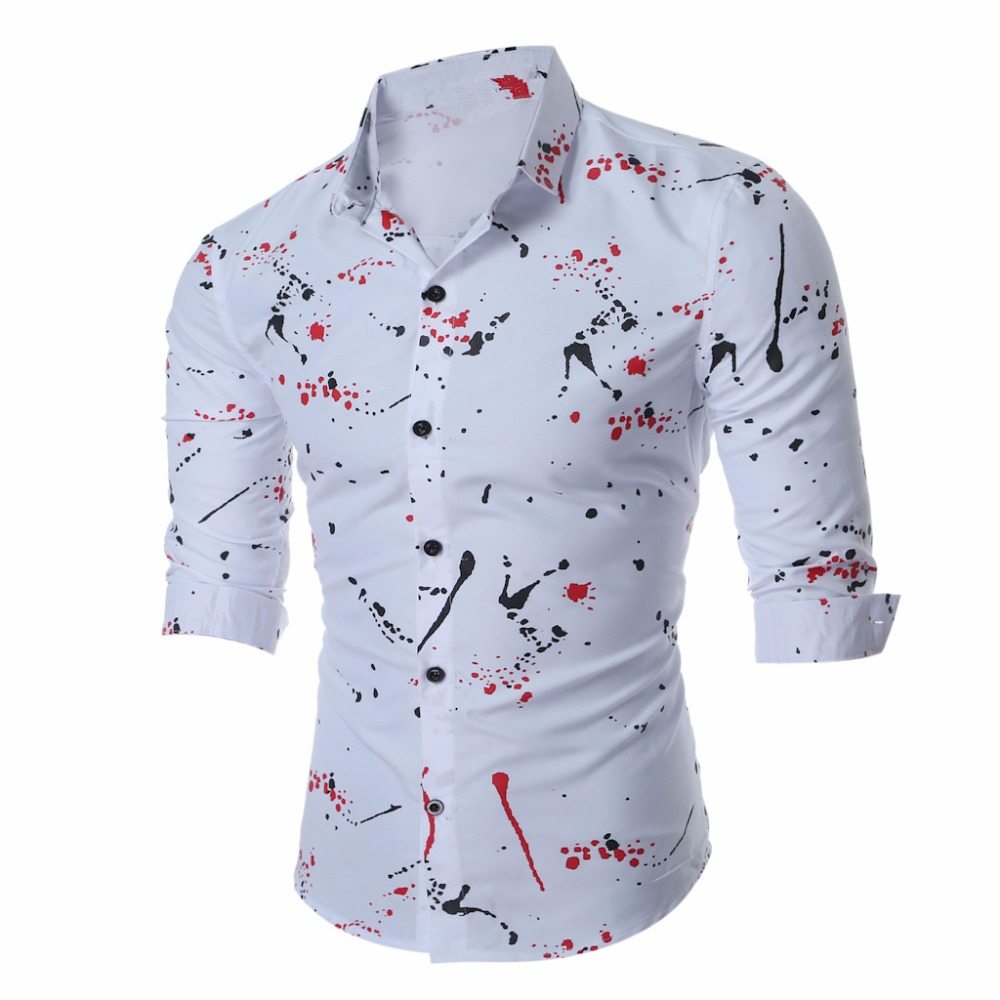 Popular 3xl asian size buy cheap 3xl asian size lots from for Mens printed long sleeve shirts