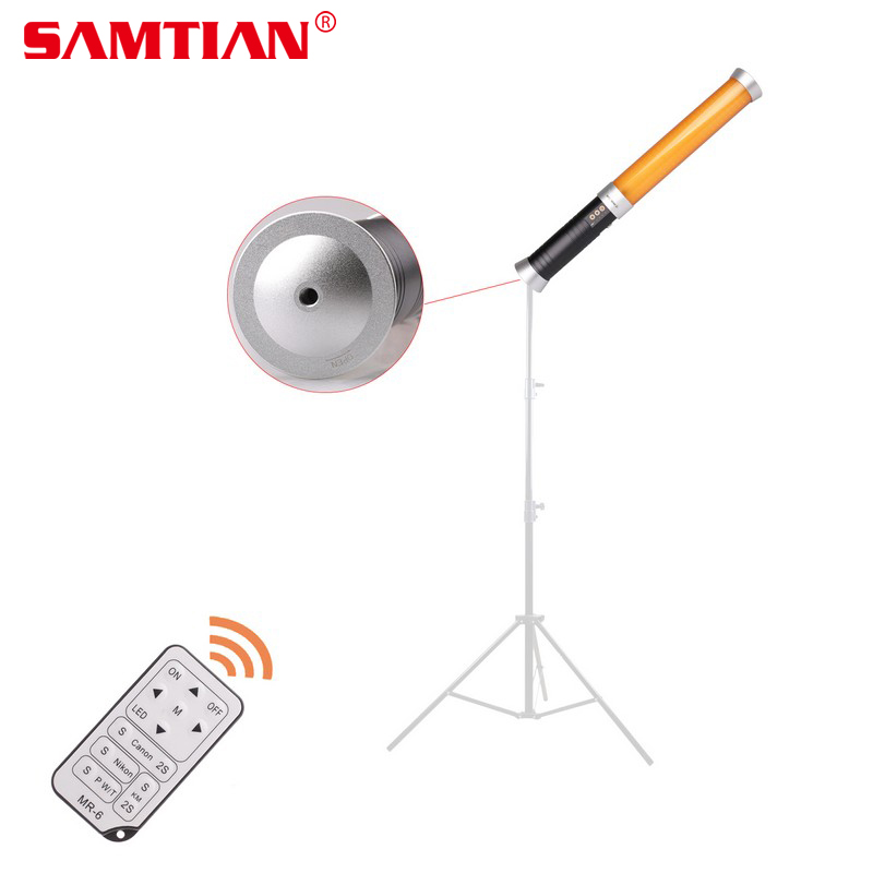 SAMTIAN Portable Handheld 168 LED Video Camera Magic Tube Light MTL-MINI D With F550 Batteries For Photographic Lighting Video