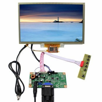 """VGA LCD Controller Board 10.2"""" HSD100IFW1 CLAA102NA0ACW 1024x600 Multi Touch LCD VS102TP-A3"""