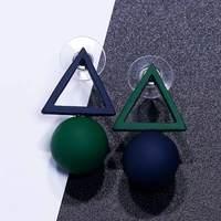 FAMSHIN Triangle Different Candy Color Earrings For Women 2017 Fashion Stud Earrings From Korean Earings Jewelry 1