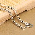 Handmade Thailand 925 Silver Necklace Vintage 925 Sterling Silver Neckace for Pendants Real Silver Necklace