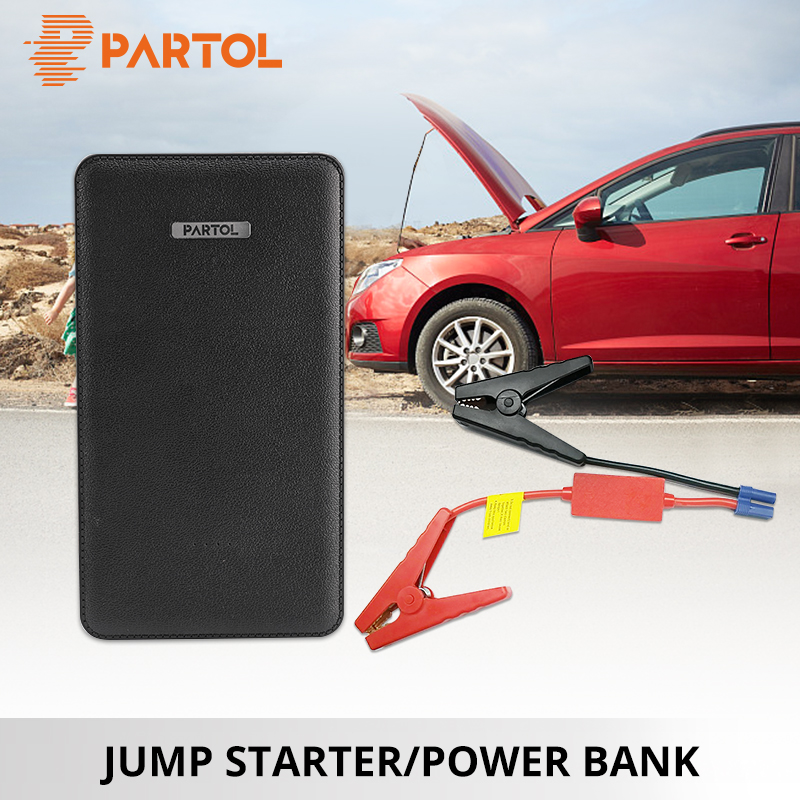 Partol 8000MAH Portable Jump Starter Booster 12V Mini Car Battery Multifunction Auto Engine Power Bank Starting Up To 2.0L Car