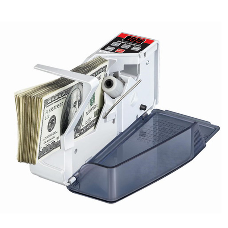 Mini Portable Handy Money Counter for most Currency Note Bill Cash Counting Machine EU V40 Financial