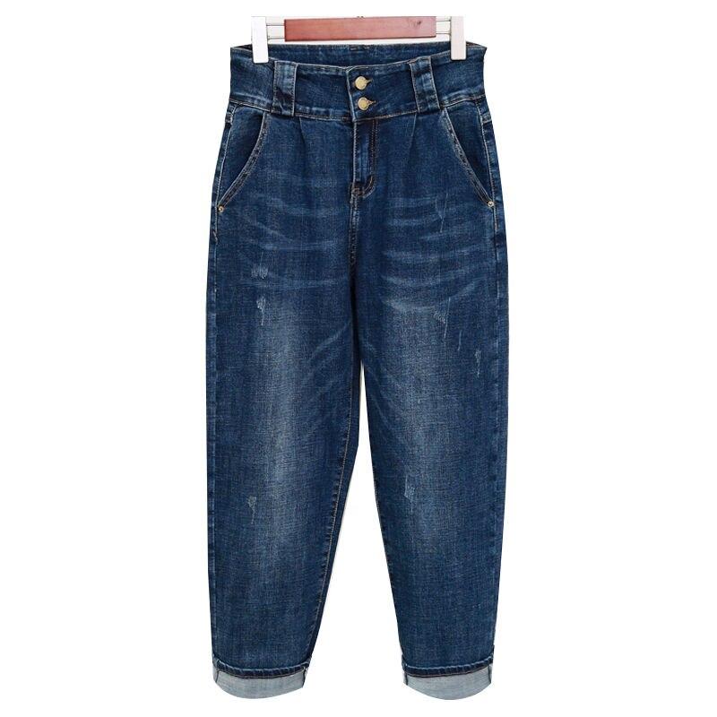 PLus Size Boyfriend Jeans For Women 200 Pounds Loose Harem Pants Long Denim Trousers Women Casual Ladies High Waist Jeans C5330