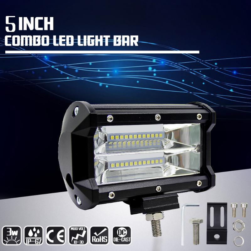 5 72W 2 Row LED Work Light Bar for Jeep Flood Spot Combo Lamp for Off-road SUV Boat Waterproof Emergency Rescue LED Lights видеоигра бука saints row iv re elected