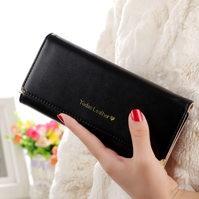 IUX new hot sale Korean Luxury Ladies long Purses Women Wallets Leather Card holder Clutch female three fold more color bags все цены