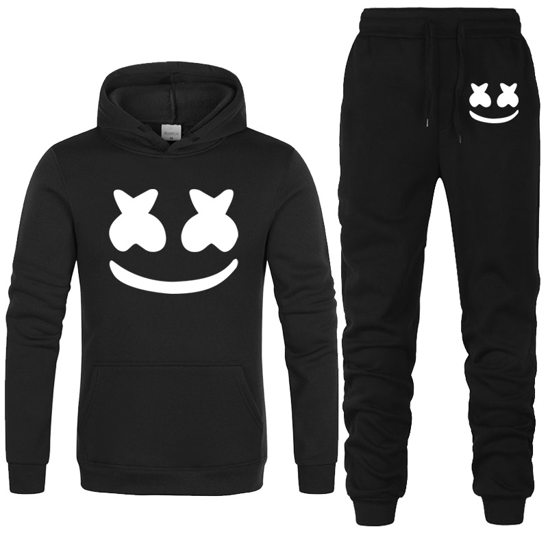 New Model Trend marshmello face Males Sportswear Print Males Hoodies+pants Pullover Hip Hop Mens tracksuit Sweatshirts Clothes Aliexpress, Aliexpress.com, On-line buying, Automotive, Telephones & Equipment, Computer systems & Electronics,...