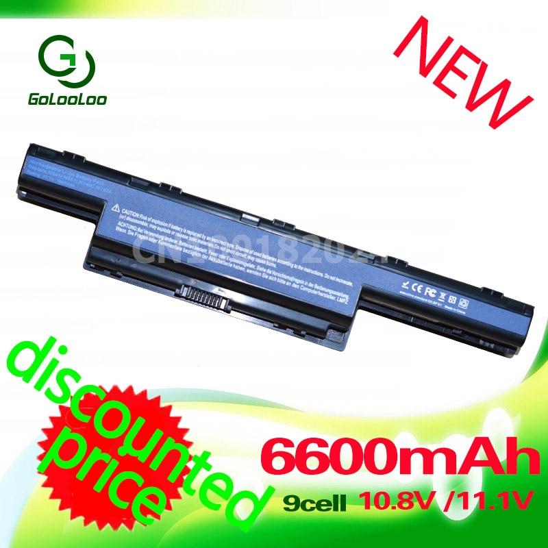 Golooloo 6600mah 11.1v Battery for Acer Aspire V3 571G 5551G 5560G AS10D41 AS10D3E AS10D41 AS10D61 AS10D73 AS10D75 BT.00603.111