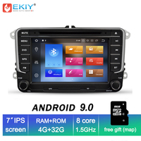 EKIY 2 Din 7'' Car DVD Multimedia Player GPS Navigation System Auto Radio For VW Passat b6 Seat Leon 2 Altea Toledo Skoda 4G+32G