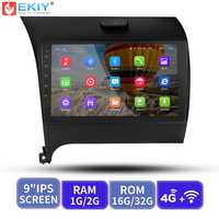 EKIY 9' IPS Car Multimedia Player Android No 2 Din AutoRadio Video For Kia Cerato K3 Forte 2013 2014 2015 2016 GPS Navigation