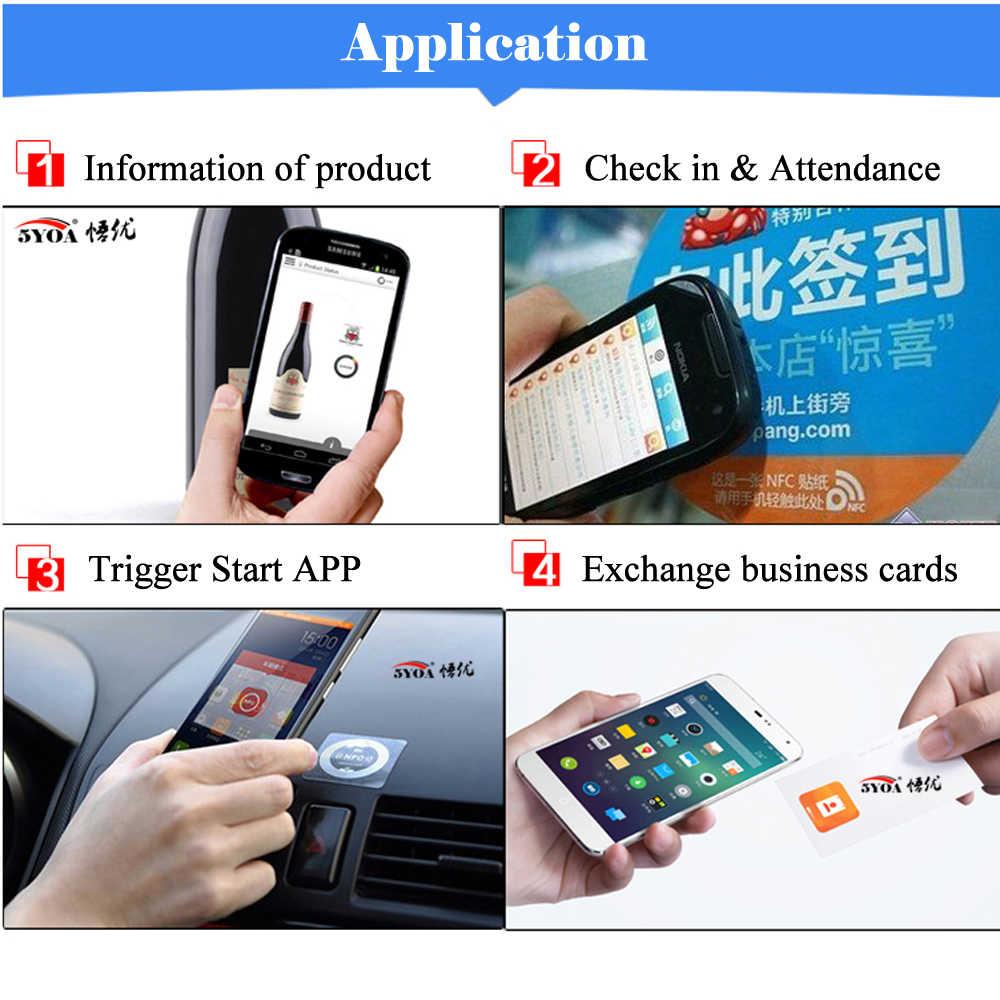 6 stks/partij NFC Tags Stickers Anti Metalen Ntag213 lijm label sticker Universele Etiket RFID Tag voor alle NFC Telefoons