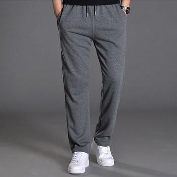 Men Autumn Summer Sports Running Pants Pockets Training Elastic Waist Jogging Casual Trousers Sweatpants Solid 1