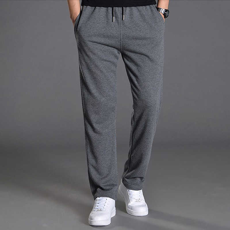 Men Autumn Summer Sports Running Loose Pants Pockets Training Elasticity Waist Legging Jogging Casual Trousers Sweatpants Solid