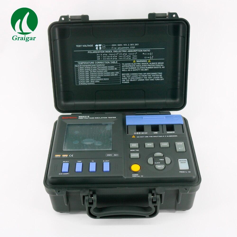 MS5215 High Voltage Digital Insulation Resistance Tester 5000V 3mA, Temp.( 10 70C) Megger