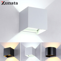 12 w led 스포트 라이트 cob ip65 방수 옥외 벽 빛 dimmable 알루미늄 조정 가능한 각 벽 램프 ac85 ~ 265 v 포치 빛
